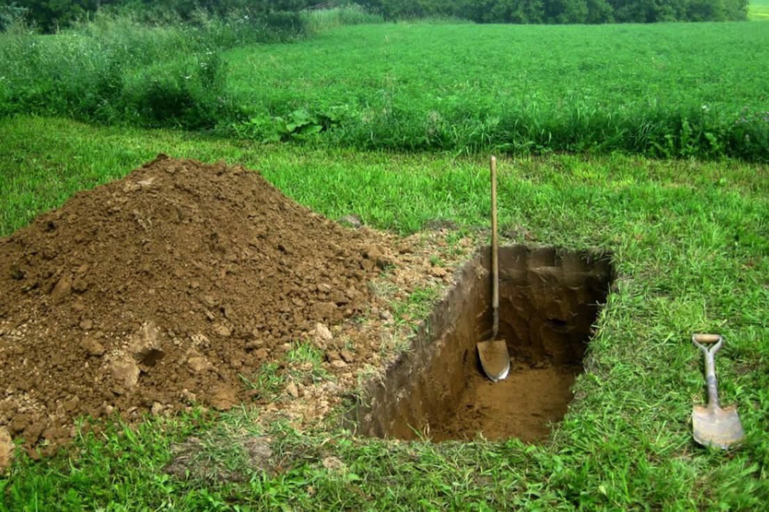 Копка могил в Кобрине